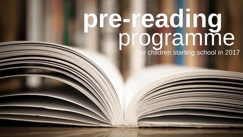 Pre-reading Programme for Children Starting School in 2017