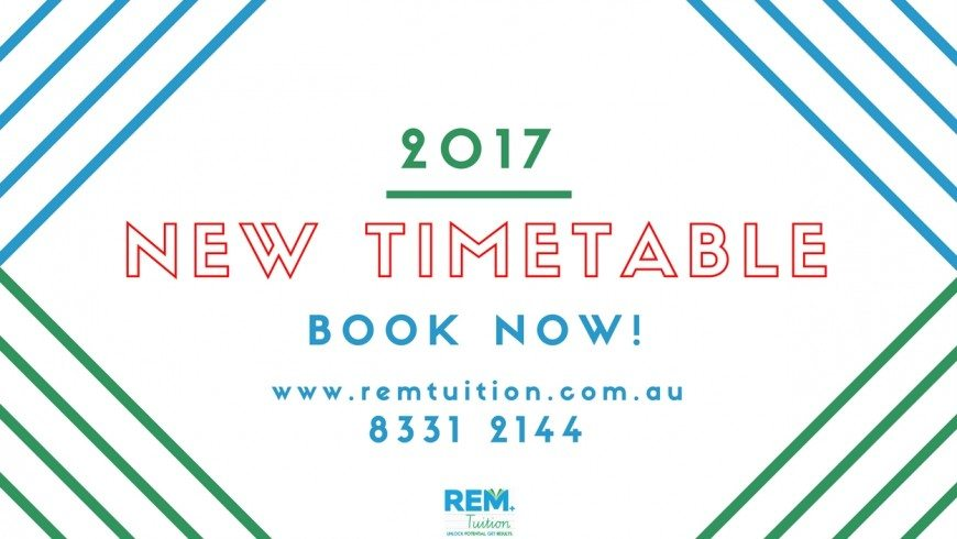 2017 Tuition Timetable