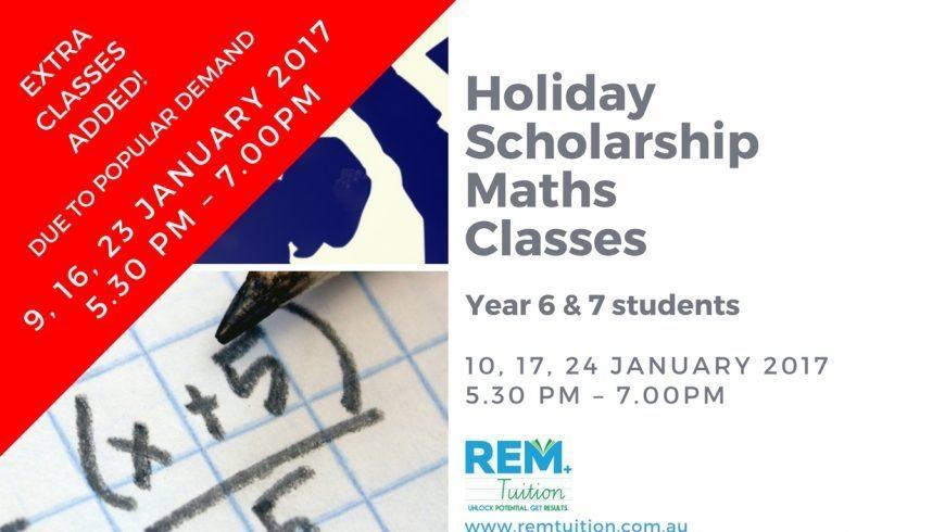 Holiday Scholarship Maths Classes